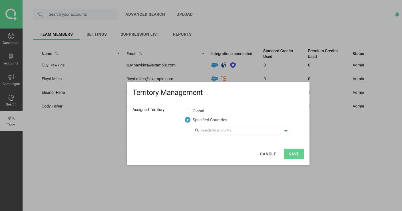 LeadIQ Territory Management